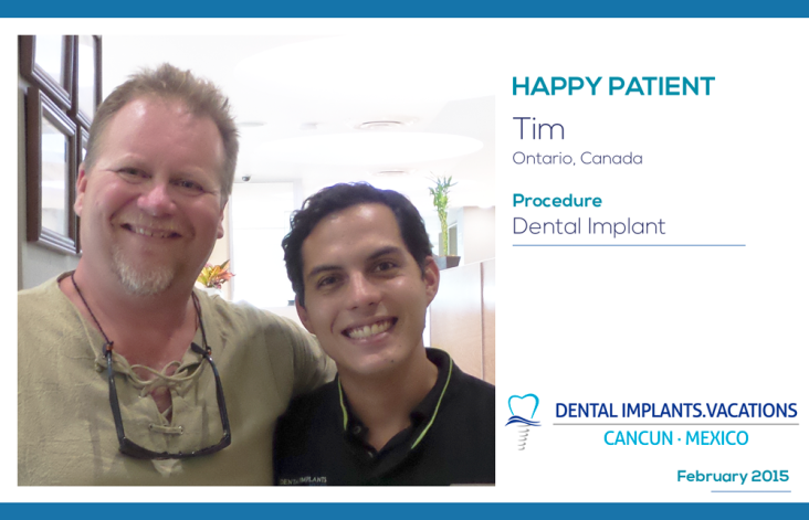 A new Happy Patient with affordable Dental Implants!