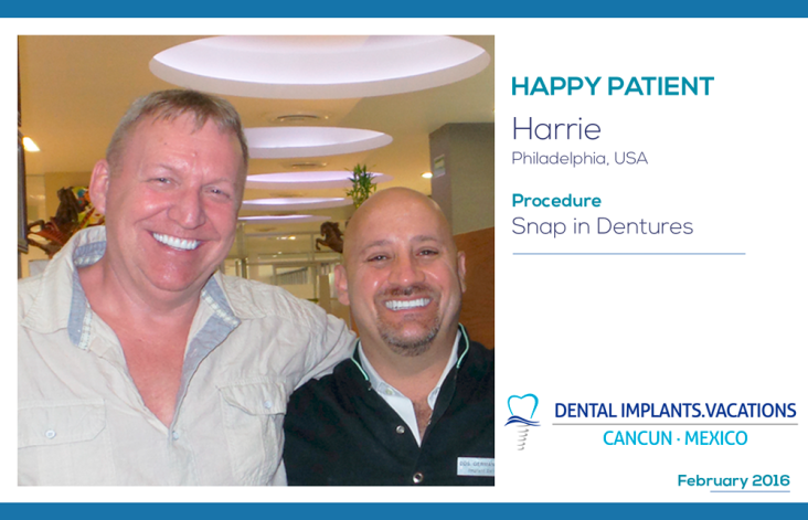 Find Snap in Dentures and Affordable Dental Implants cost less in Cancun