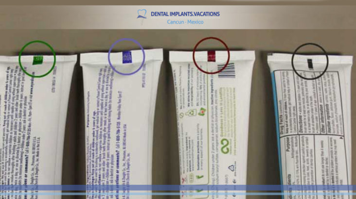 meaning of the colored lines in the toothpaste